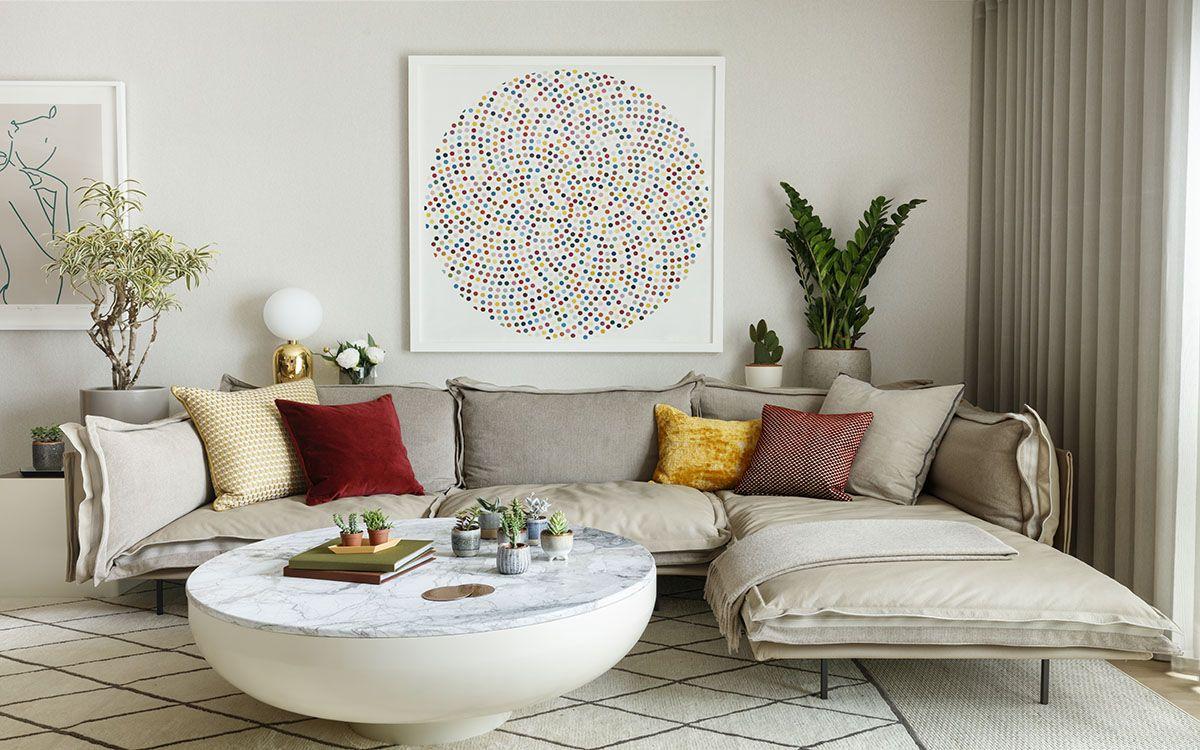 低调的城市生活:充满艺术色彩的华丽三居室