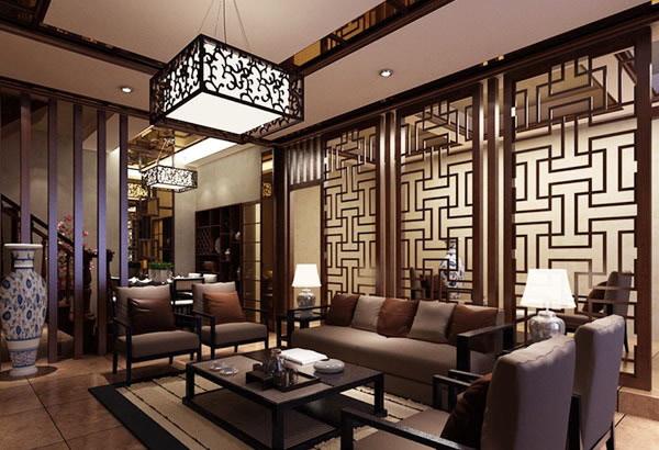 【Part 1:新中式客厅装修效果图】   客厅是传统与现代居室风格的碰撞,设计师以现代的装饰手法和家具,结合古典中式的装饰元素,来呈现亦古亦今的空间氛围。中式风格的古色古香与现代风格的简单素雅自然衔接,使生活的实用性和对传统文化的追求同时得到了满足。影视墙的造型简洁现代,却在醒目位置饰以中式书法,这种绝妙的组合给人以强烈的视觉意志力,成为时尚与古典的柔媚结合。    中式风格的客厅也可以有小清新的感觉。    以白色为主的空间少了中式风格的压抑感。    甜美的粉蓝色装饰更显空间可爱有趣之感。