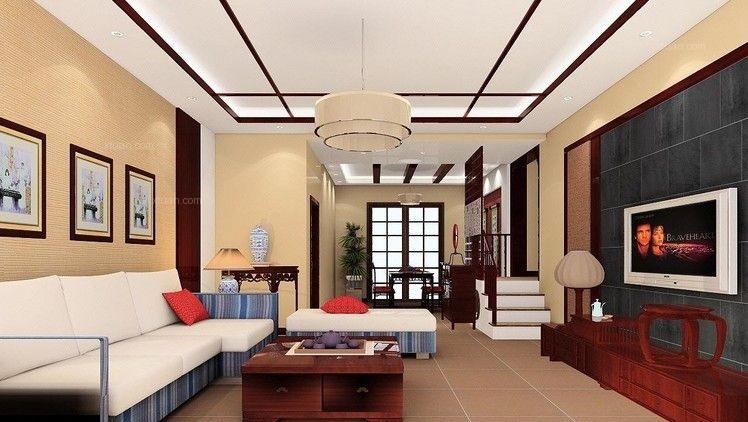 欧式风格客厅设计,与一贯的奢华大气相比,这样的设计更能让人
