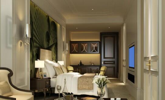 欧式卧室背景墙颜色搭配效果图