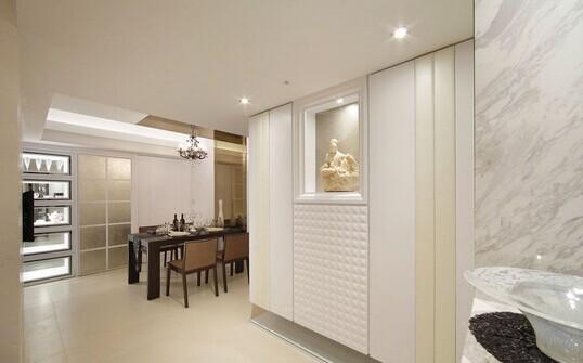 韩式风格装修_超越传统创造       在89平米的房屋中 客厅和餐厅共同图片