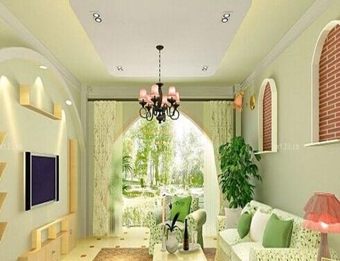 客厅风景图片春天