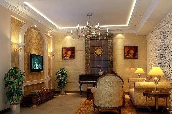 客厅欧式吊顶造型设计推荐 奢华的欧式设计风格在这个黑白分明的客厅中就很好的呈现出来了。格子状的吊顶设计,配上温和灯光的间接照明,让整个客厅呈现出一种雍容华贵的感觉来。 不知道小编这次给大家准备的客厅欧式吊顶造型设计推荐,对大家进行欧式客厅装修会起到什么样的作用呢?