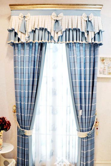 韩式田园风格窗帘装饰效果图
