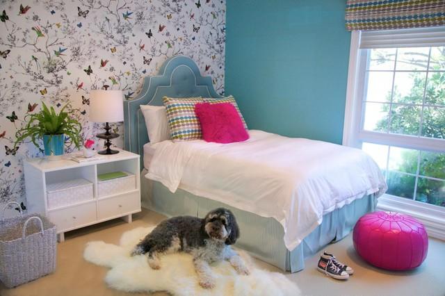 卧室墙纸装修效果图(一)地中海风格的卧室墙纸装修效果图