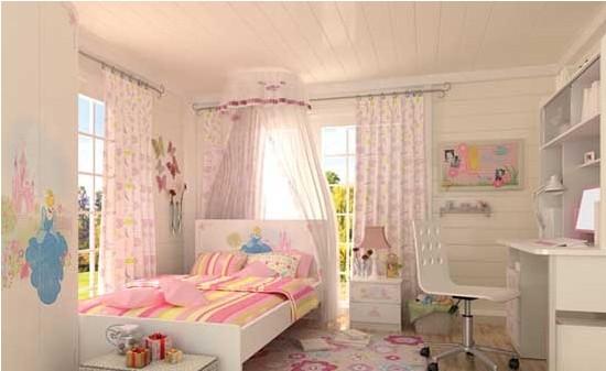 一款欧式风格的儿童房装修,整个儿童房都比较的高贵典雅,欧式风格的