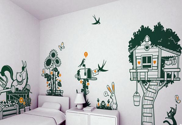 儿童房趣味:儿童房手绘三大技巧