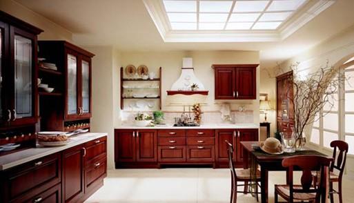 中式复古风红木厨房装修风格