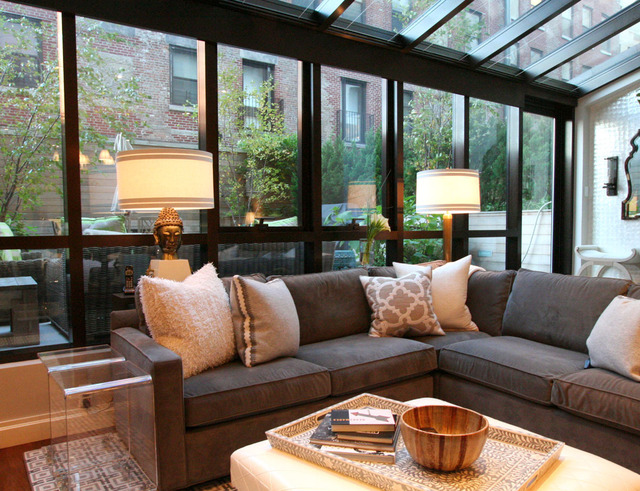 极简欧式别墅 大气阳光房客厅