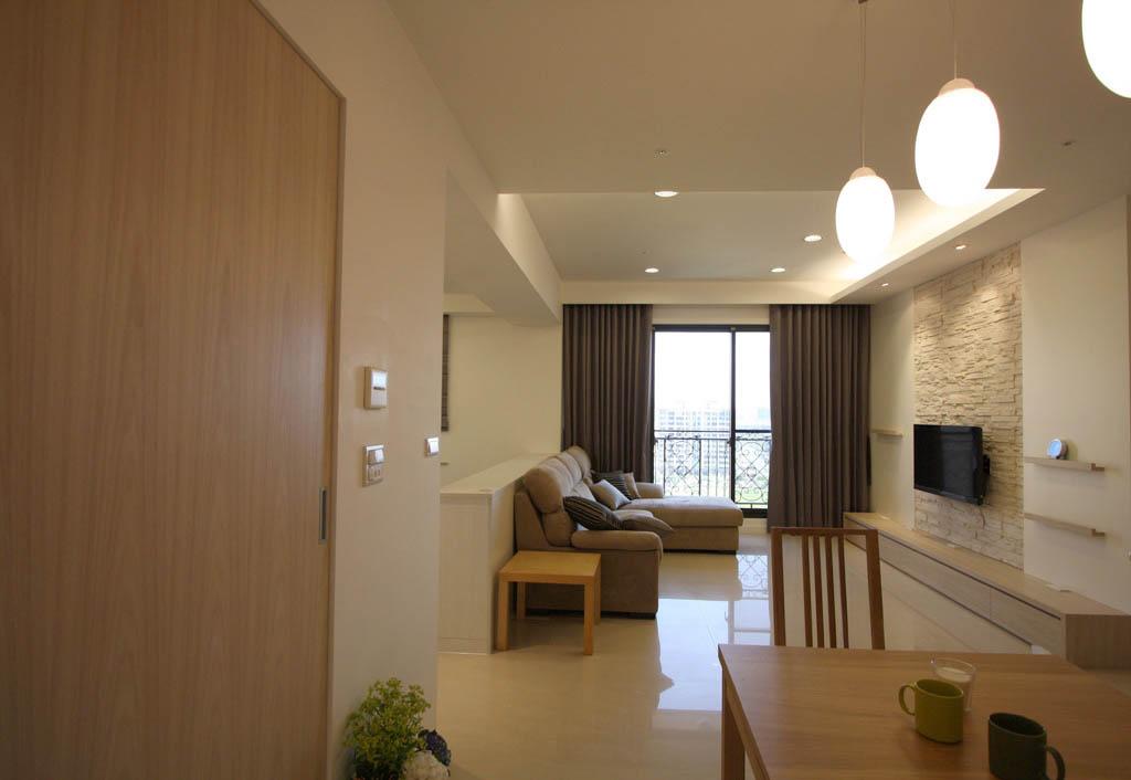 简约优雅 120平米色二居室_装修案例欣赏-保障网装修
