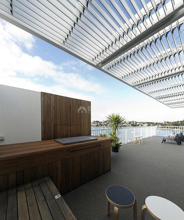 海边度假别墅 能俯览大海的美丽简约空间 别墅装修,