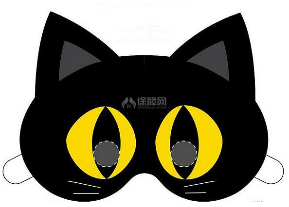 手工diy之万圣节黑猫面具