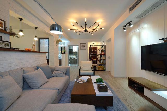 80平米三室简欧风格装修设计图片