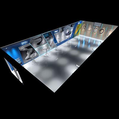 力集团联硕智慧机器人展厅设计效果图 舒冬青设计作品 福州装修保障