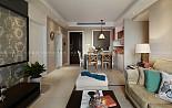 温馨舒适的110平三居室美式风
