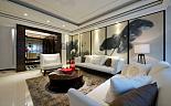 石材山水三居室现代风格