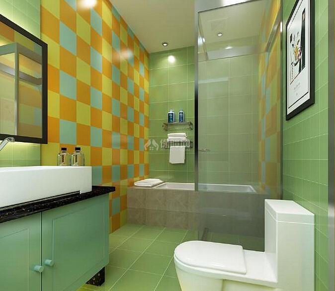 间攻略_绿色点缀沐浴时光 卫浴间设计攻略!