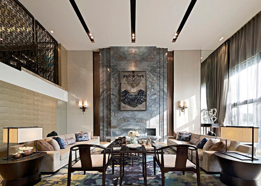 豪华现代中式风格设计效果图案例