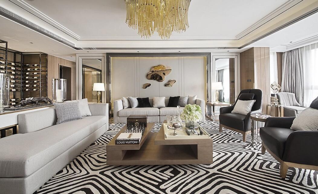 125平现代美式风格家装效果图案例