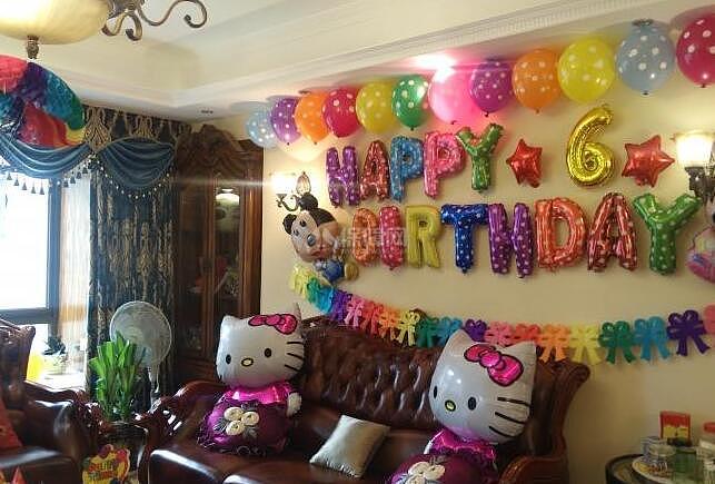 客厅气球装饰布置方法