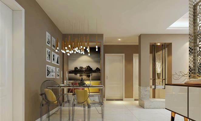 免费户型设计免费获取报价 厨房 厨房吊顶棕色(原木色)灯具工艺品 海