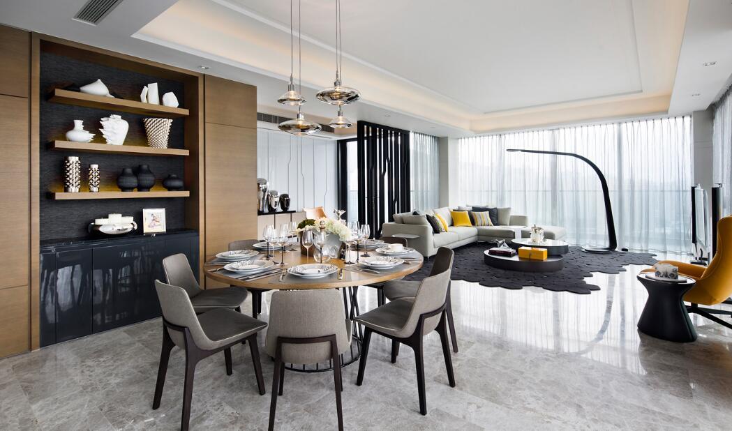 121平现代美式风格家装设计效果图案例