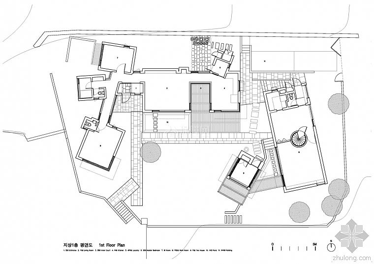 韩国案例设计别墅JindoPark图纸设计别墅做法上的水井教授图片