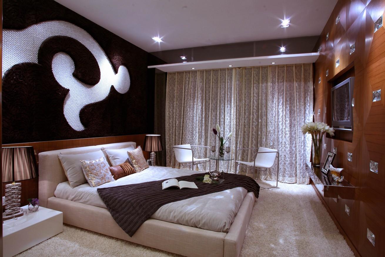 豪华欧式风格别墅卧室背景墙效果图