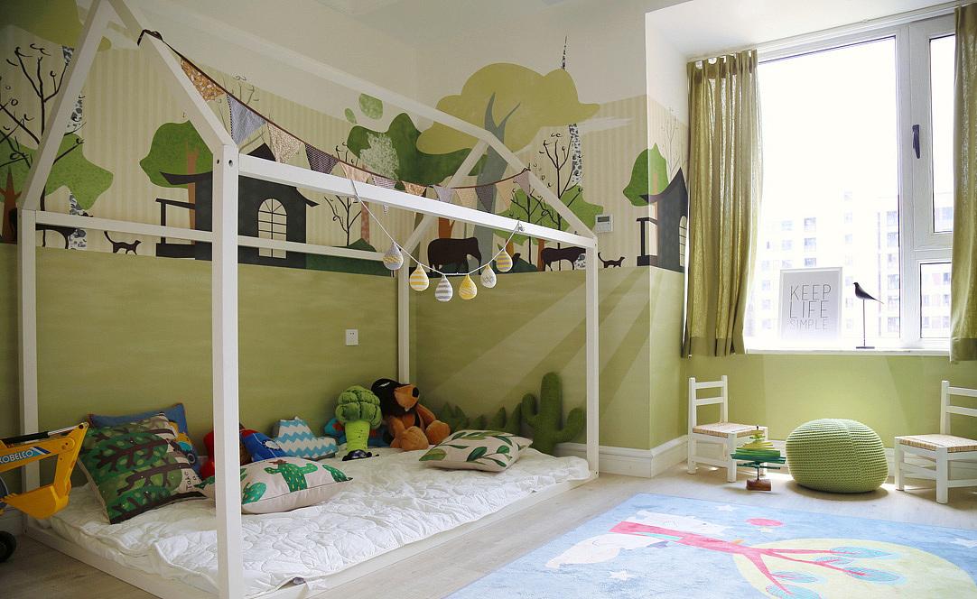 森系北欧风格四居室设计效果图案例_装修案例欣赏-网