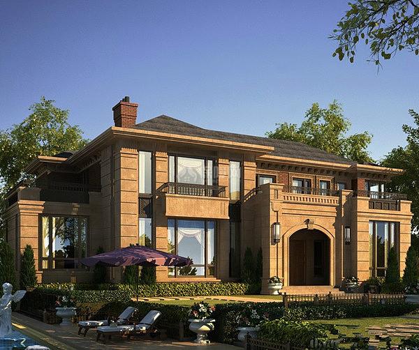 欧式风水别墅好环境造就好风水_装修v风水网在美式哪阳澄湖别墅的图片