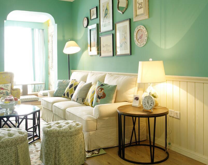 122平清新田园风格家装设计客厅效果图