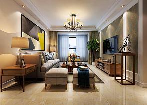 101平现代简约客厅效果图