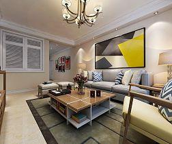 101平现代简约客厅吊顶图
