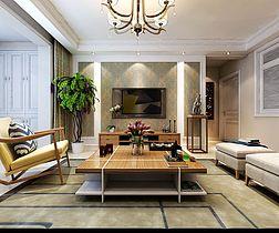 101平现代简约客厅装饰效果图