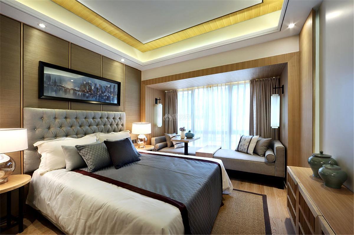 中式风格卧室吊顶设计
