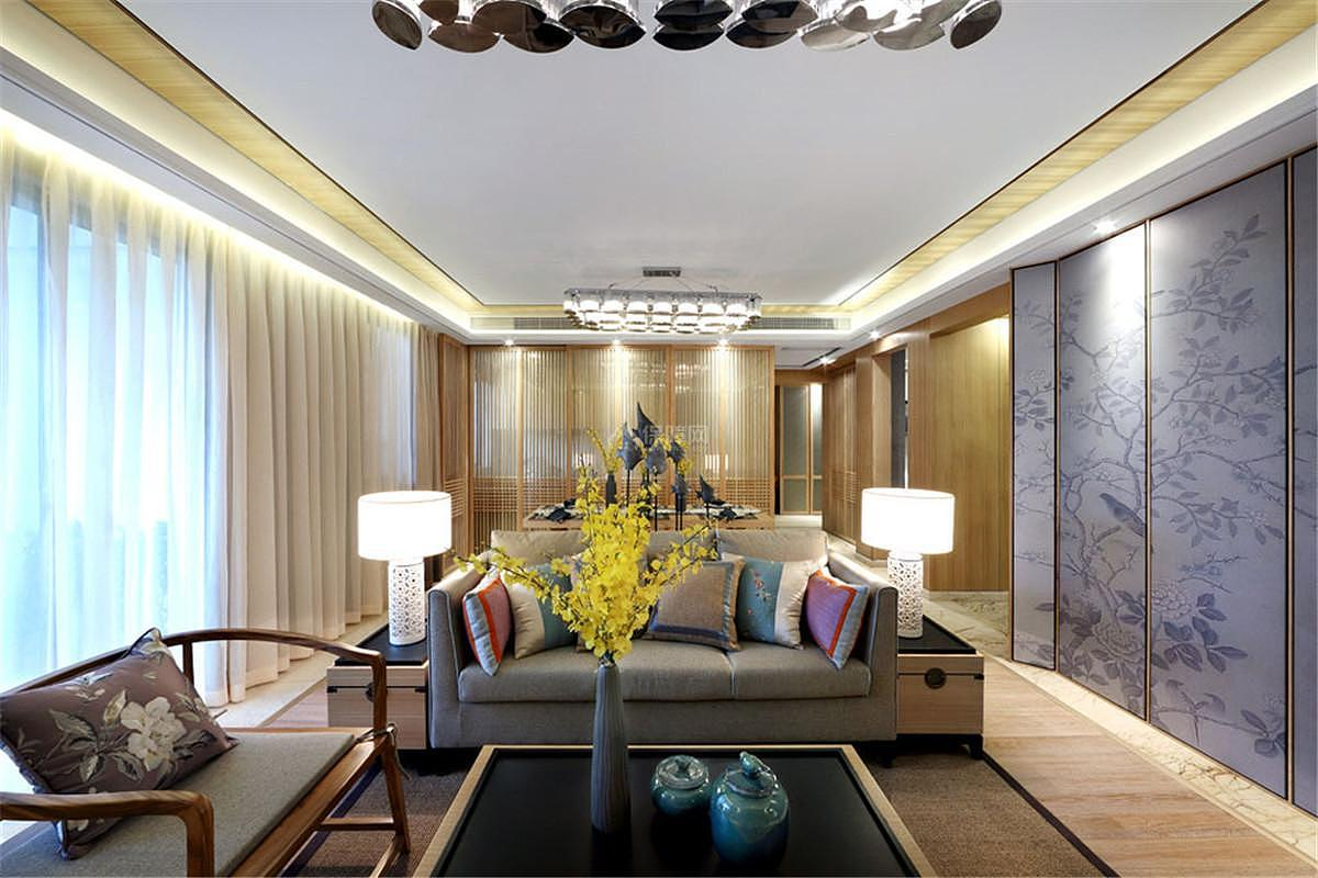 中式风格三居室装饰客厅图