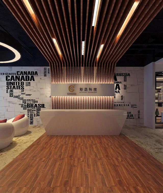 办公室背景墙合理设计图展示