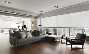 雅致现代风格客厅沙发效果图