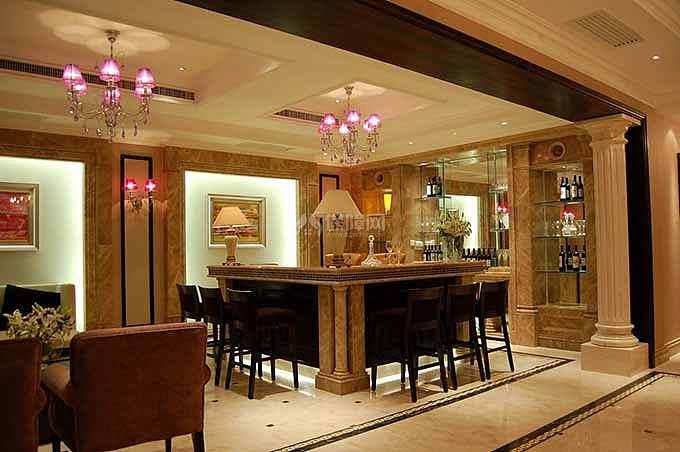 欧式风格别墅休闲吧台设计效果图