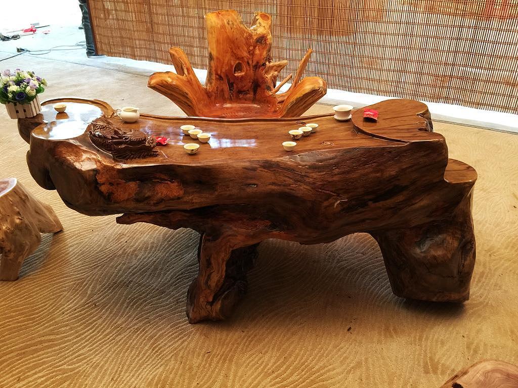 根雕茶几什么木头的好 看了就知道