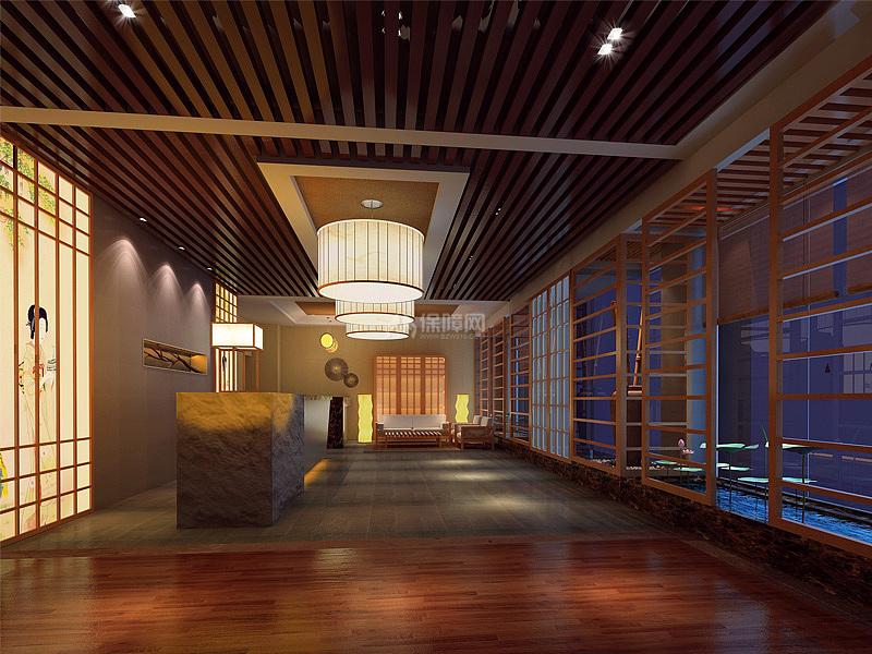 日式美容院装修设计效果图案例