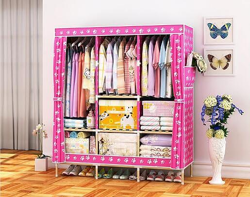 折叠式衣柜怎么安装