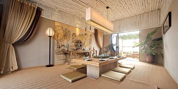 雅致现代中式复式家装效果图