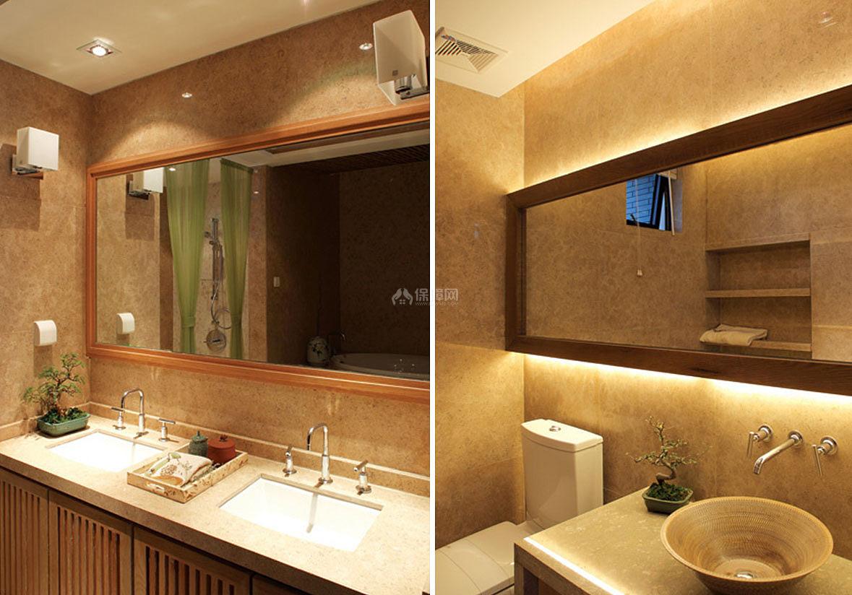 古典与现代气息的卫生间设计