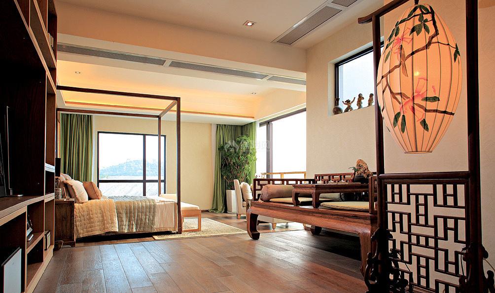 雅致中式复式设计卧室图