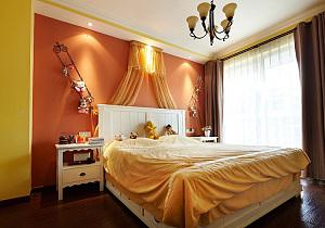 明亮混搭风格卧室装饰设计