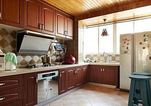 混搭风格木质整体橱柜效果图