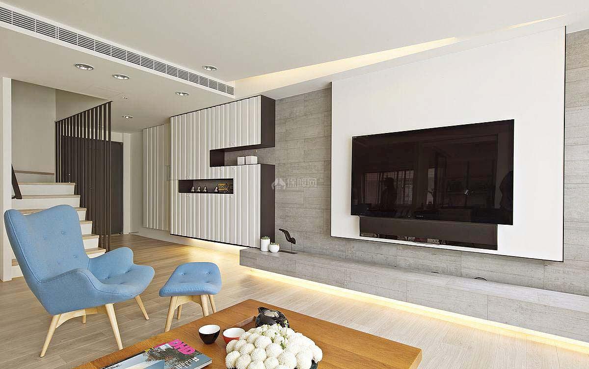 清新欧式复式客厅布局设计
