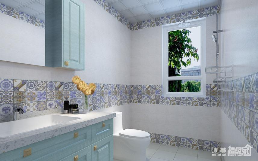 现代化清新气息的欧式复古客厅充满着明亮舒适的质感,欧式的华丽吊灯,蓝色柔软舒适的欧式沙发,搭配白色的茶几,配上灰色的瑞士卢森地板上铺设的花式地毯,彰显出浓郁的欧式质感。白色印花壁纸的电视背景墙,粉刷着白色美涂士环保墙漆的沙发背景墙,让房间充斥着一股高雅奢华的温馨味道。