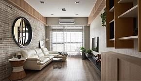 自然简约两居室客厅背景墙图